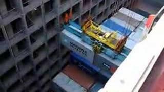 Loading on Evelyn Maersk