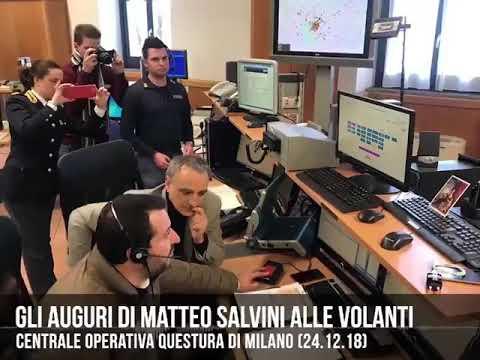 🔴 Ministro Salvini: «I miei auguri via radio alle volanti della Polizia di Stato»