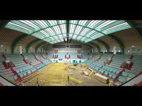 Time Lapse Palais des Sports à Tours Salle Grenon