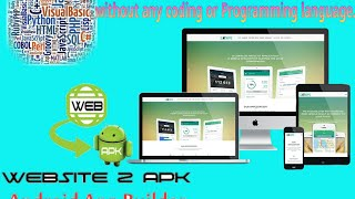 Website to android apk builder( Without Coding Or Programming Language ) DIY