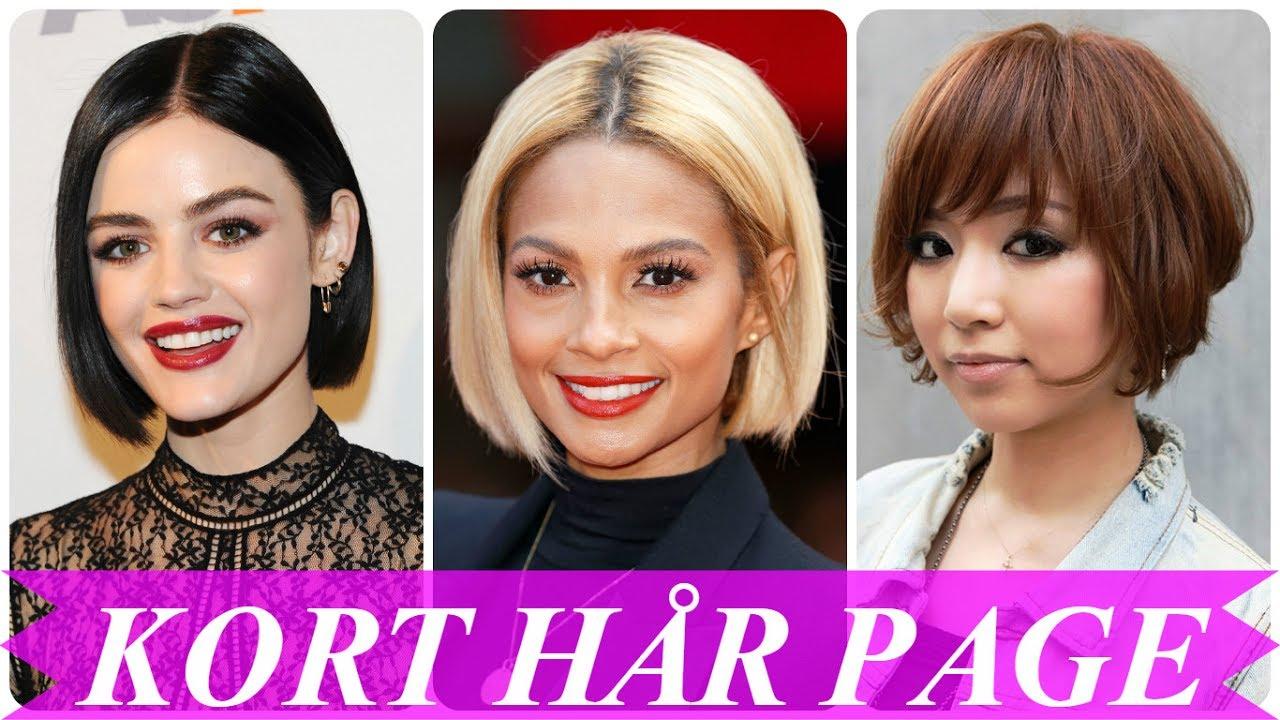 frisurer kort hår page