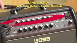 Loa Boss ACS Live - P3- 3 Line in micro & nhạc cụ