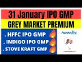 Indigo Paints IPO   HFFC IPO   Stove Kraft IPO   31st January GMP Review   upcoming ipo in 2021