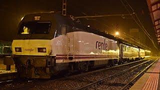 Trenes nocturnos en Medina del Campo Noviembre 2014