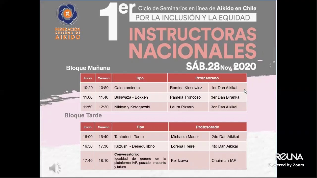 Seminario de Instructoras Nacionales - 1er Ciclo de Seminarios