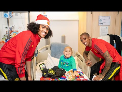 Manchester United Players Make Christmas Dreams Come True At Local Children's Hospitals