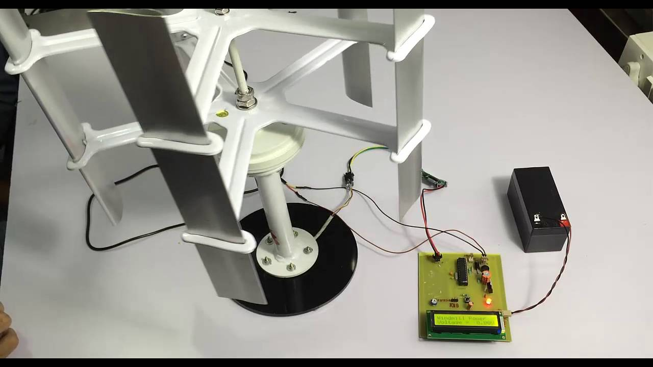 Mini Windmill Power Generation Project - YouTube