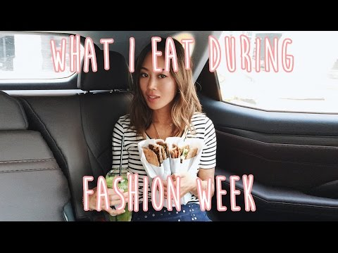 What I Eat During Fashion Week  Song of Style  Vlog#19  Aimee Song