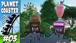 PRAÇA DE ALIMENTAÇÃO E PLANEJAMENTOS !!  Planet Coaster #3
