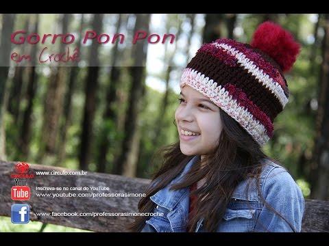 e4e1198c55ee0 Gorro Fácil Crochê Pon Pon - Professora Simone - YouTube