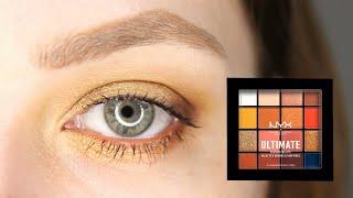NYX Ultimate Escape Artist Солнечный макияж для серых глаз Как накрасить глаза