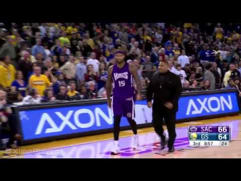 DeMarcus Cousins Gets Ejected From Game - Kings Vs Warriors - December 28, 2015 - NBA 2015-16 Season