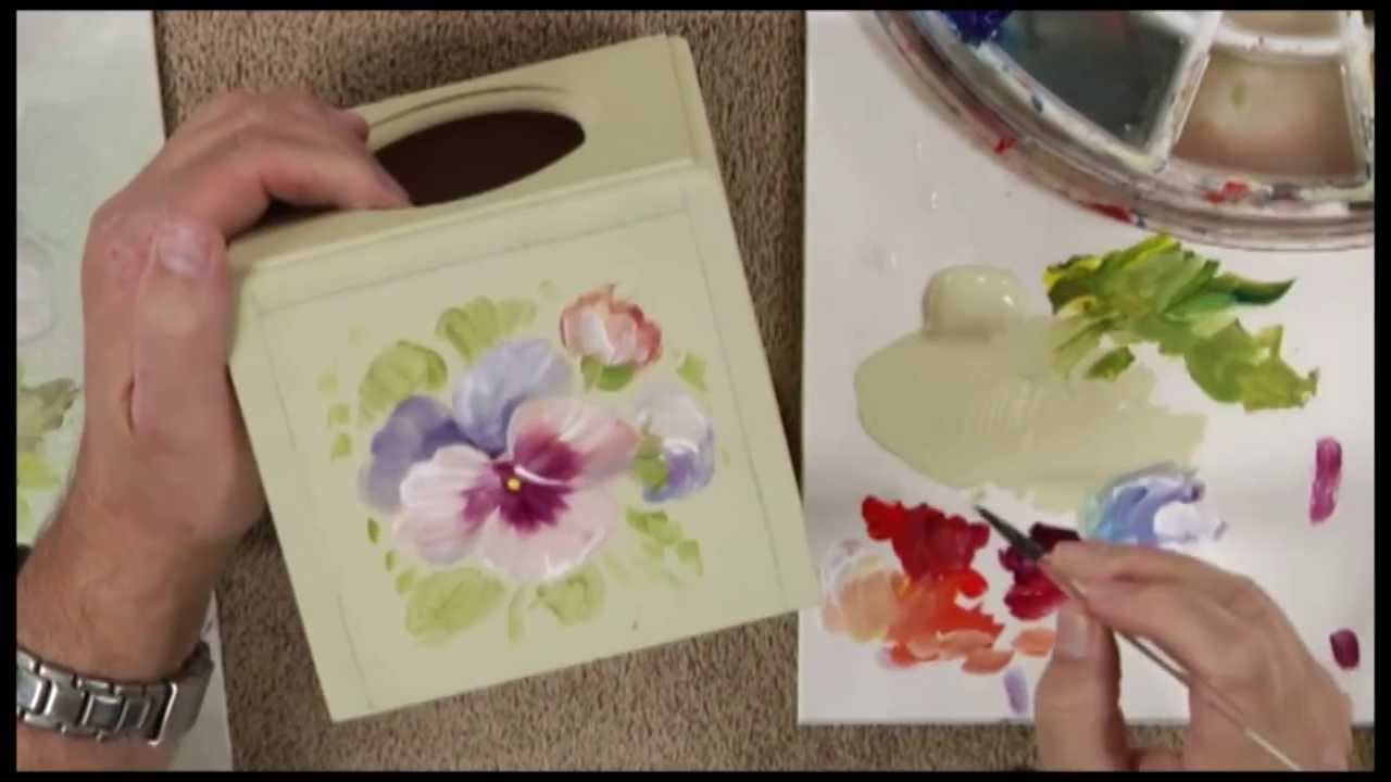peinture d corative en technique florale mille pens es ForPeinture Decorative