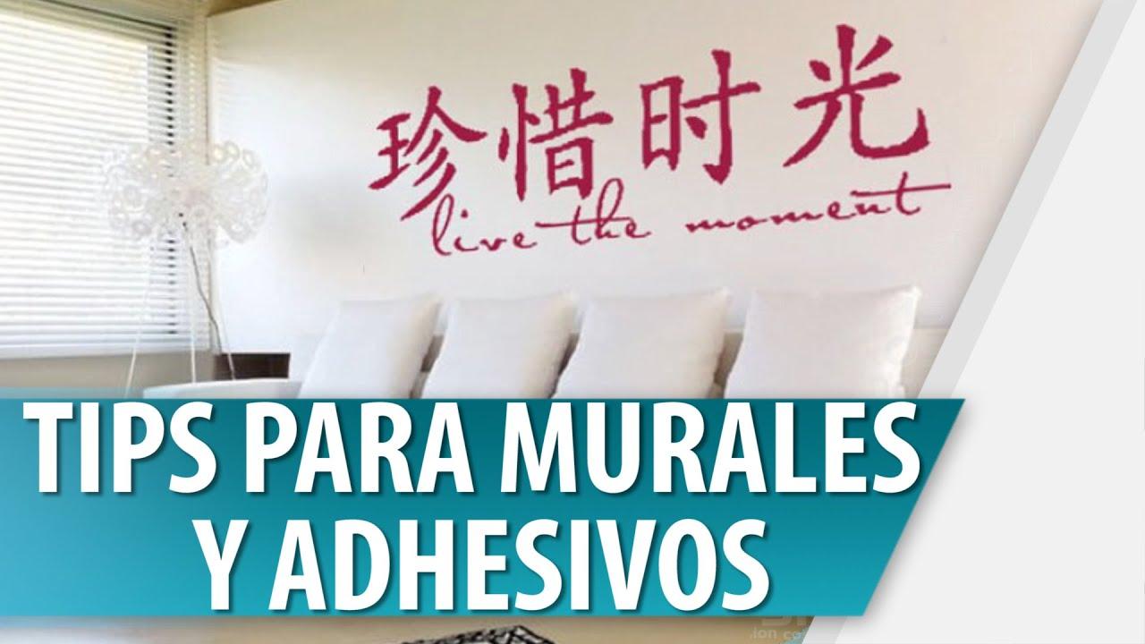 Tips para murales y adhesivos youtube for Murales adhesivos