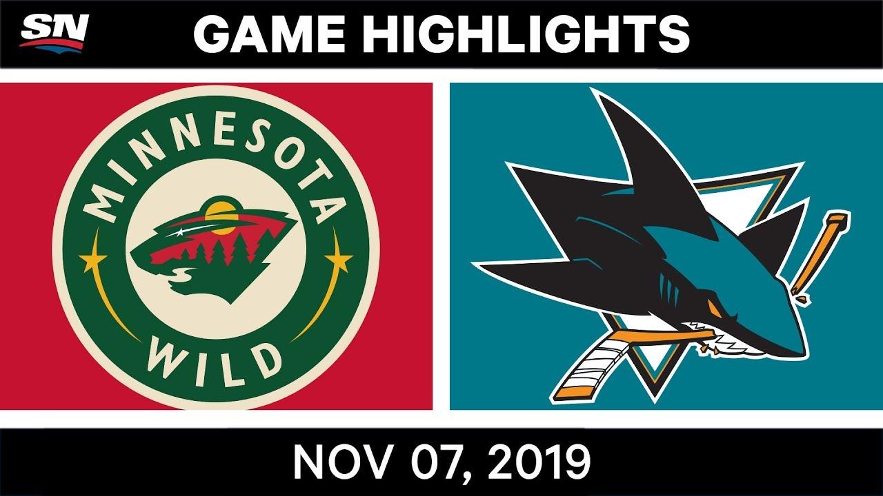 NHL Highlights | Wild vs. Sharks – Nov. 07, 2019