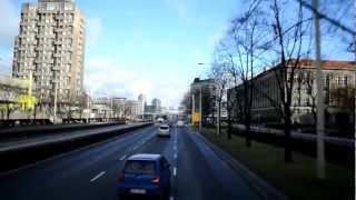 Polski Bus Nagranie z czoła autobusu