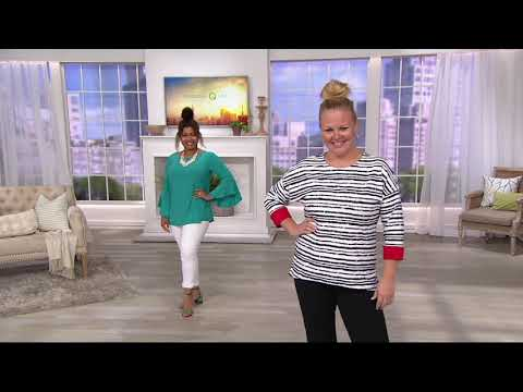 Women with Control Tummy Control Slim Leg Ankle Pants on QVC