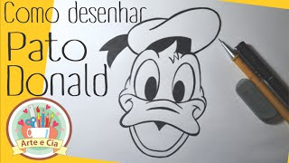 Como desenhar o Pato Donald passo a passo -How to Draw Donald Duck