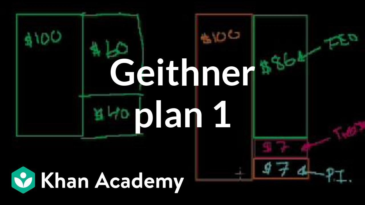 Geithner plan 1 | Money, banking and central banks | Finance & Capital Markets | Khan Academy