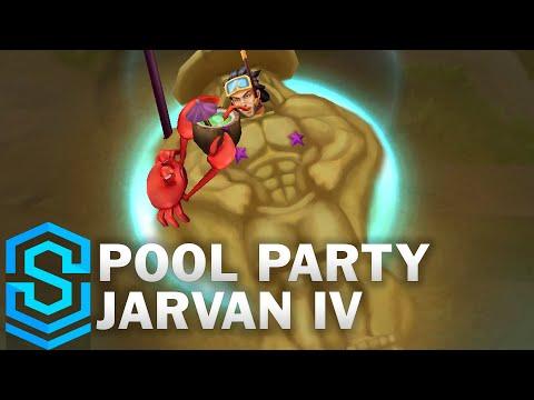 Pool Party Jarvan Skin Spotlight - League of Legends