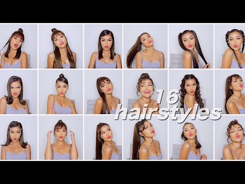 16 SIMPLE QUICK & EASY HAIRSTYLES