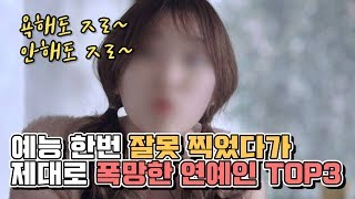 예능 한번 잘못 찍었다가 제대로 폭망한 연예인 TOP3