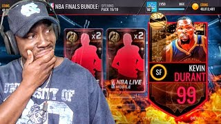 99 OVR NBA FINALS KEVIN DURANT GAME 1! NBA Live Mobile 16 Gameplay Ep. 122