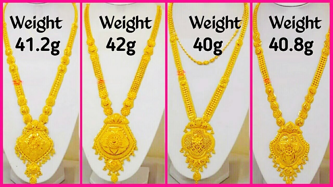 Eye Catching Gold Haram Necklace Designs 2018 Latest Jewellery