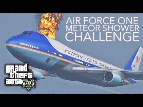 GTA V E21 - Air Force One Meteor Shower Challenge
