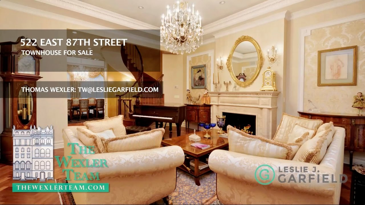 NYC TOWNHOUSE At 522 East 87th Street, Manhattan For Sale... Thomas Wexler