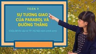 Toán 9: Sự tương giao của Parabol và đường thẳng- Chữa đề thi vào 10 Hà Nội năm 2017-2018