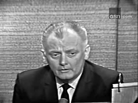 What's My Line? - Walter Cronkite; Art Carney; PANEL: Steve Allen, Anne Douglas (Mar 27, 1966)
