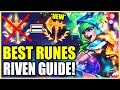 *BEST* RIVEN RUNES AGAINST ALL CHAMPIONS! (+60 Champions) - League of Legends