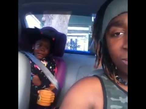 Funniest kid prank inside car sleeping