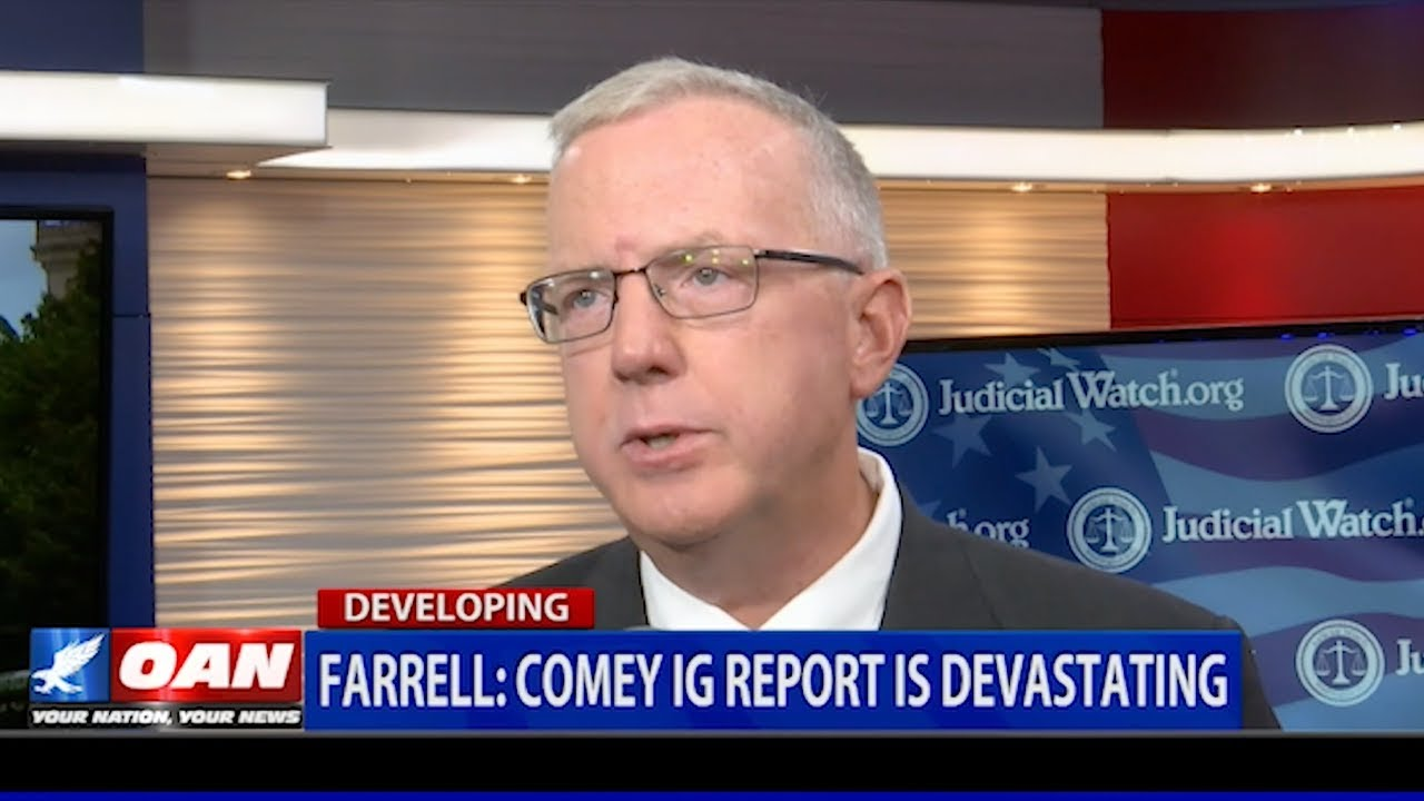 """Judicial Watch The Latest IG Report is """"DEVASTATING"""" for Comey! 
