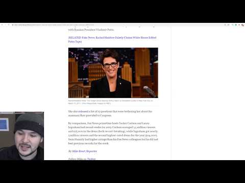 Rachel Maddow Has WORST Ratings Of The Year, WONT Drop Russiagate STILL