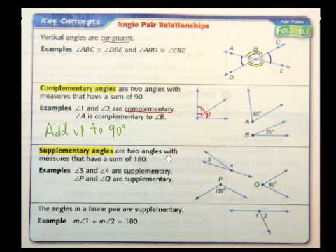Geometry Sec 1 5 Angle Relationships