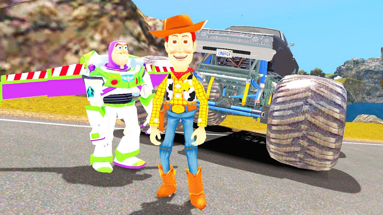 Buzz l 39 clair woody toy story monster truck disney cars 2 pixar dessin anim youtube - Dessin anime de flash mcqueen ...