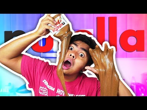 DIY How To Make NUTELLA SLIME!