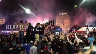 Greece: Fans ecstatic as Thessaloniki's PAOK brings Greek Cup home