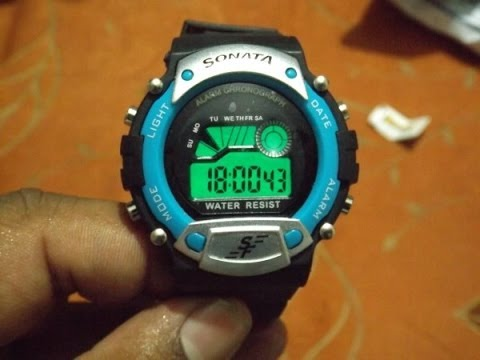 sonata super fibre digital watch for men unboxing hands on rh youtube com