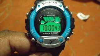 Sonata Super Fibre Digital Watch - For Men : Unboxing & Hands On