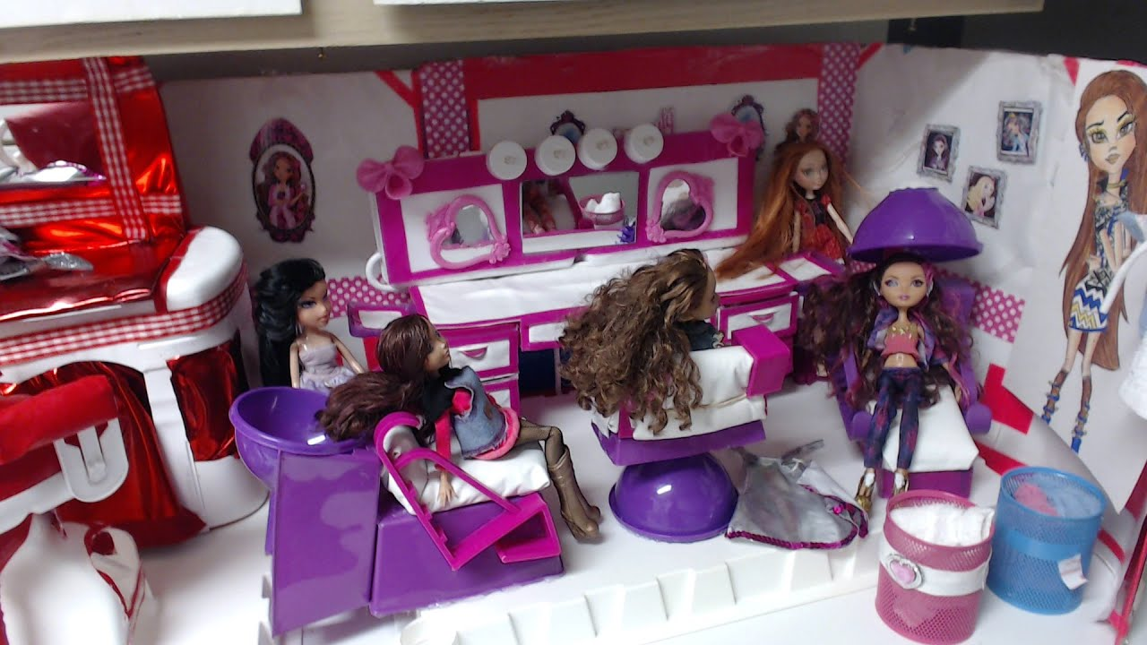 Toy Hair Salon : Doll hair salon monster high bratz ever after