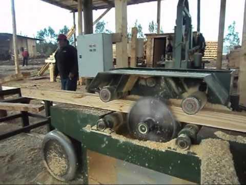 Sierra m ltiple para madera de exportaci n youtube - Sierra para cortar madera ...