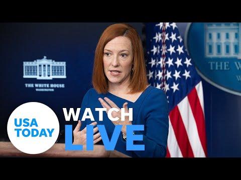 White House Press Secretary Jen Psaki briefs the press. (LIVE)   USA TODAY