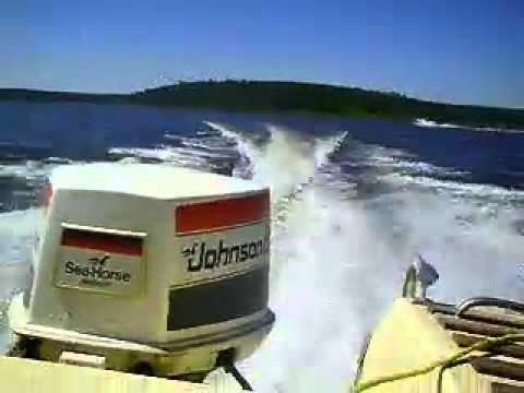 85 hp Johnson Outboard - YouTube