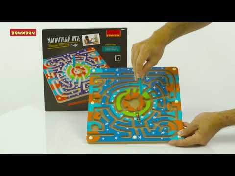 Развивающие игры из дерева: головоломки «Найди меня», «Магнитный путь», «Гонки» BONDIBON.