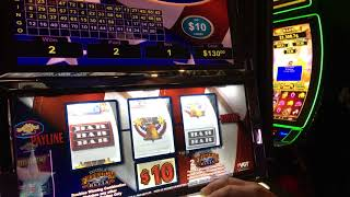 VGT SLOTS - DOUBLE FREEDOM $10 LIVE PLAY - WITH BIG WIN RED SPINS !!!
