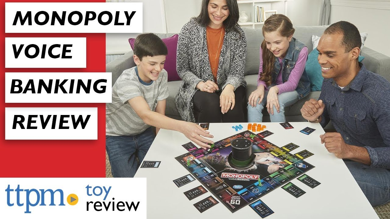 2019 Monopoly Voice Banking Game Review from Hasbro Gaming