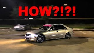 2JZ LEXUS TEARS UP PARKING LOT!!! (INSANE Drifting and Tons of BURNOUTS!)